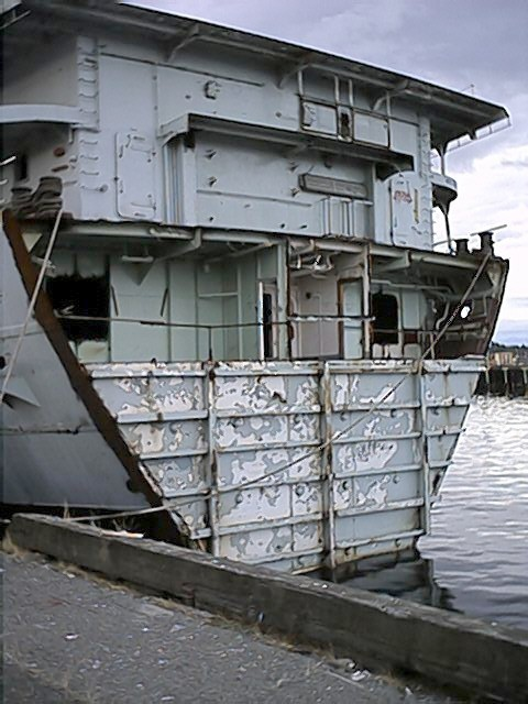 When I looked out the opening behind me and down into the water…I realized that's where part of her stern used to be.As a huge part of engineering history it is currently displayed in North Vancouver's museum along with her engine...as reminders of a proud heritage.